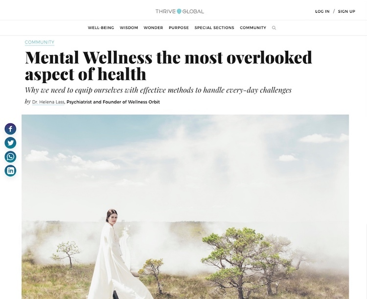 Mental Wellness the most overlooked aspect of health