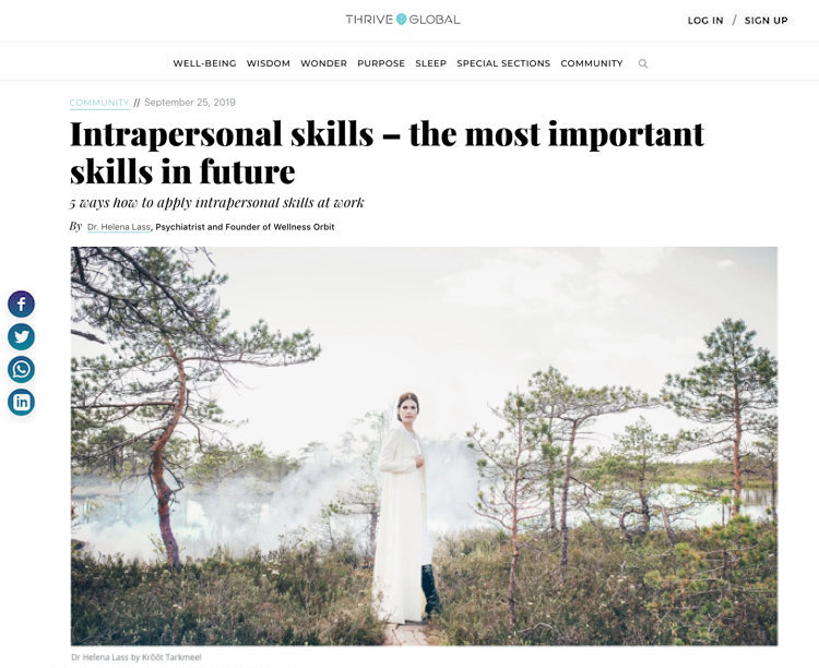 Interpersonal skills - the most important skills in future by Dr Helena Lass