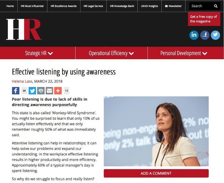 Effective listening by using awareness