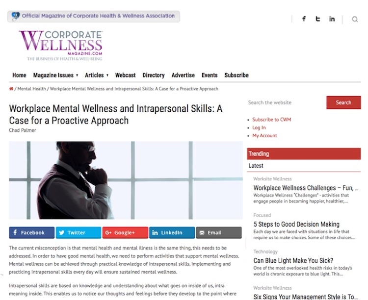Workplace mental wellness
