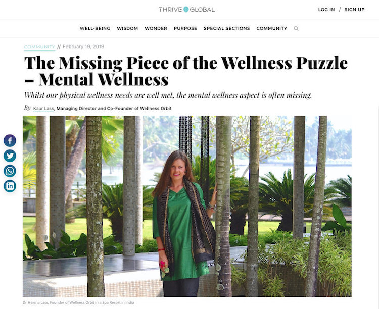 The missing piece of the wellness puzzle by Kaur Lass