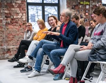 Kaur Lass speaking about proactive mental wellness 12/2019. Photo: Tallinn Start Up Week