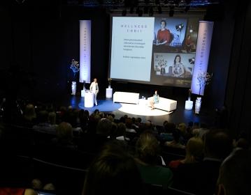 Presenting Wellness Orbit @ Conscious Initiative Conference, Tallinn 05/2016. Photo: Madis Palm