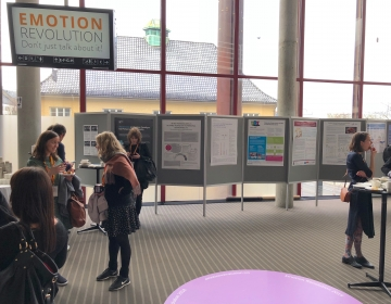 Emotion Revolution in Bergen, Norway 04/2018. View of the poster area. Photo by Ingvar Villido