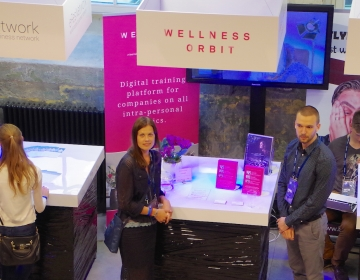 Wellness Orbit box @ Startup & Tech conference Latitude 59, Tallinn 06/2016. Photo: Kaur Lass