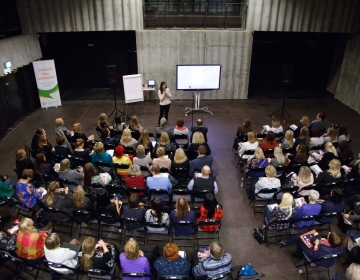 Dr. Helena Lass Workshop needed extra chairs @ HRM Conference, Tallinn 04/2017. Photo: PARE