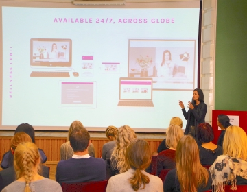 Dr Helena Lass @ Innovation Clinic by Connected Health, Tallinn 11/2017. Photo: Kaur Lass