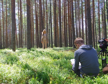 Our team filming the new Coffee Break training in silent nature, 07/2019. Photo: Kaur Lass