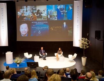 Ingvar Villido & Dr. Helena Lass @ Conscious Initiative Conference, Tallinn 05/2018. Photo: Aimar Säärits