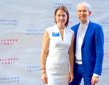 Dr. Helena Lass & Kaur Lass @ Conscious Initiative Conference, Tallinn 05/2018. Photo: Aimar Säärits