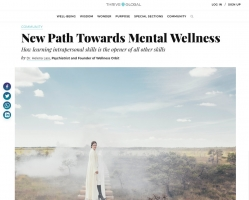 'New Path Towards Mental Wellness' – article by Dr. Helena Lass in Thrive Global